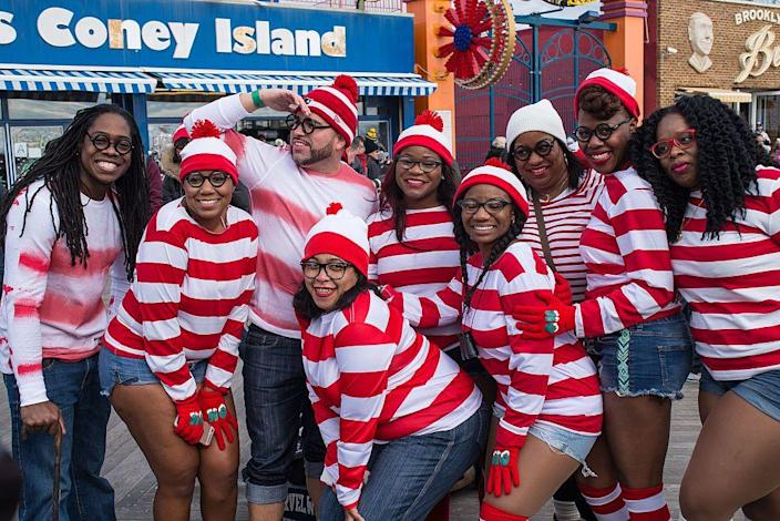 """<p>There's a reason why dressing up as Waldo never goes out of style — it's just so easy!</p><p><a class=""""link rapid-noclick-resp"""" href=""""https://www.amazon.com/gp/product/B00Y38S3MW?tag=syn-yahoo-20&ascsubtag=%5Bartid%7C10070.g.3083%5Bsrc%7Cyahoo-us"""" rel=""""nofollow noopener"""" target=""""_blank"""" data-ylk=""""slk:SHOP RED-AND-WHITE-STRIPED SHIRTS"""">SHOP RED-AND-WHITE-STRIPED SHIRTS</a></p>"""