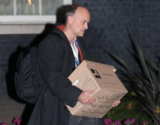 Dominic Cummings pictured leaving 10 Downing Street in November
