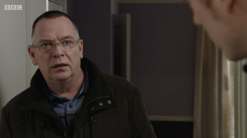 Ian Beale (Adam Woodyatt) and son Peter (Dayle Hudson) in EastEnders