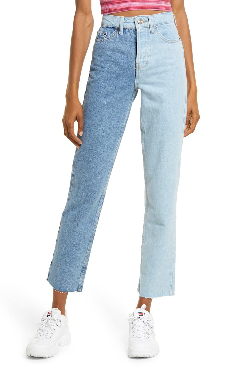 """<p><strong>BDG</strong></p><p>nordstrom.com</p><p><strong>$69.00</strong></p><p><a href=""""https://go.redirectingat.com?id=74968X1596630&url=https%3A%2F%2Fwww.nordstrom.com%2Fs%2Fbdg-urban-outfitters-two-tone-pax-high-waist-straight-leg-jeans-summer-blue%2F5950605&sref=https%3A%2F%2Fwww.womenshealthmag.com%2Flife%2Fg37080961%2Fbest-boyfriend-jeans%2F"""" rel=""""nofollow noopener"""" target=""""_blank"""" data-ylk=""""slk:Shop Now"""" class=""""link rapid-noclick-resp"""">Shop Now</a></p><p>Can't decide between a light or classic wash? Now you don't have to. Instagram influencers are obsessed with these jeans—they're great for photoshoots and are surprisingly versatile, too.</p>"""