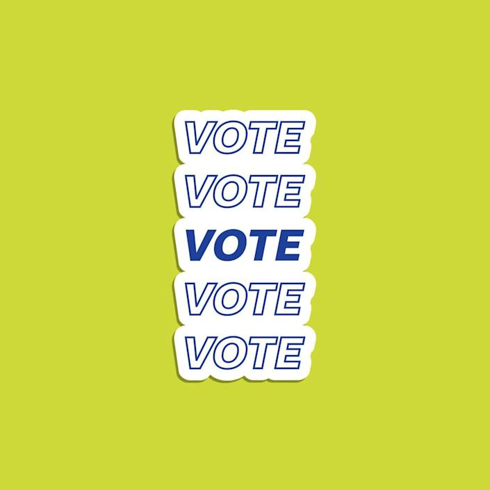 """You can just stick it on your car ahead of Election Day any year. <br><br><a href=""""https://fave.co/3altRgh"""" rel=""""nofollow noopener"""" target=""""_blank"""" data-ylk=""""slk:Find it for $4 at Etsy"""" class=""""link rapid-noclick-resp"""">Find it for $4 at Etsy</a>."""