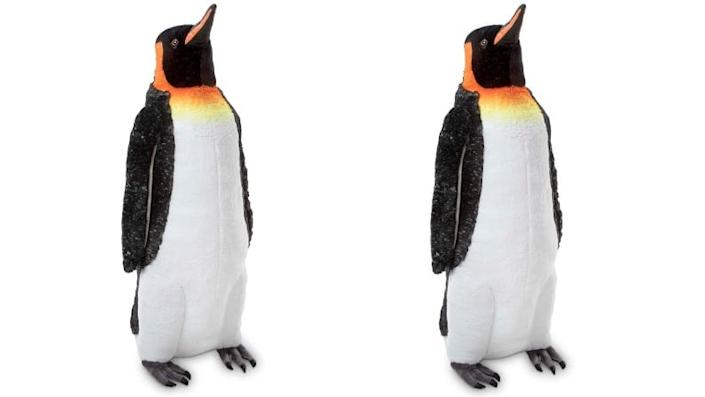 Yes, that really is a life-sized toy penguin