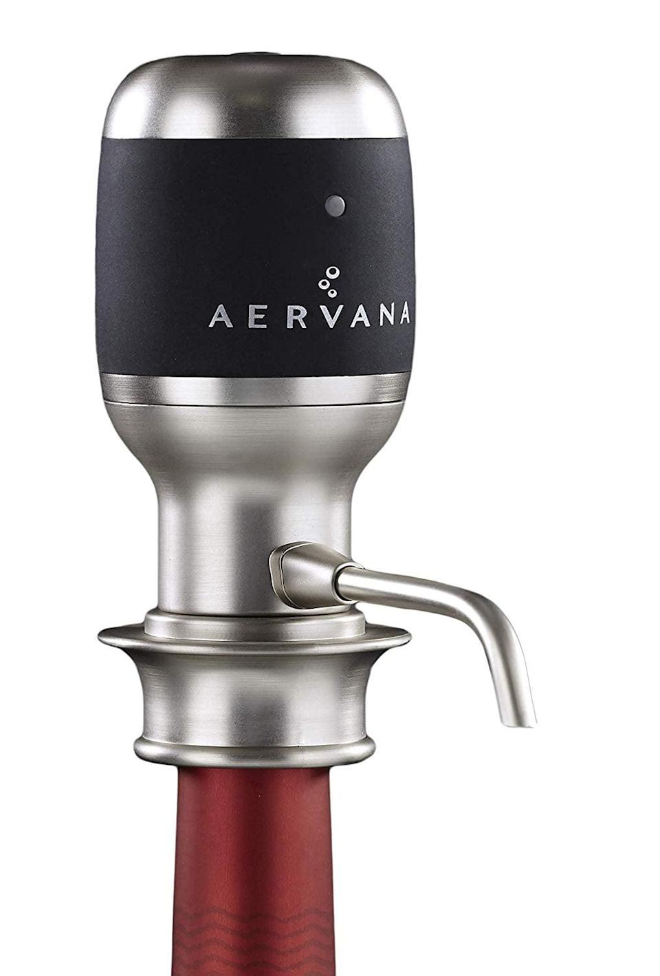 <p>Allow your wine breathe without having to wait, thanks to this <span>Aervana Original: One Touch Luxury Wine Aerator</span> ($110). It's a game-changing companion to any wine bottle opening. </p>