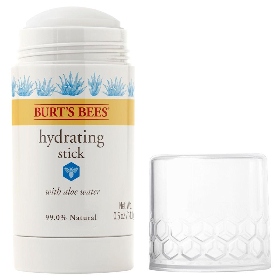 """<p>You gotta love an affordable, natural moisturizer — especially one in such a fun, convenient format. Burt's Bees Hydrating Stick's finger-free formula lets you keep your hands off your face while it instantly absorbs for fast-acting hydration. The mess-free, portable formula is soothing, easy to use, and best of all, moisturizing without heaviness.</p> <p><strong>$13</strong> (<a href=""""https://shop-links.co/1706973943314099177"""" rel=""""nofollow noopener"""" target=""""_blank"""" data-ylk=""""slk:Shop Now"""" class=""""link rapid-noclick-resp"""">Shop Now</a>)</p>"""
