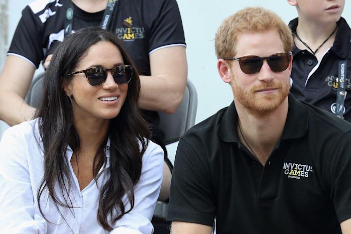<p>Harry and Meghan make their first public appearance as a couple at the 2017 Invictus Games in Toronto. Meghan had lived in Toronto for a number of years while working on her USA Network show <em>Suits</em>. </p>
