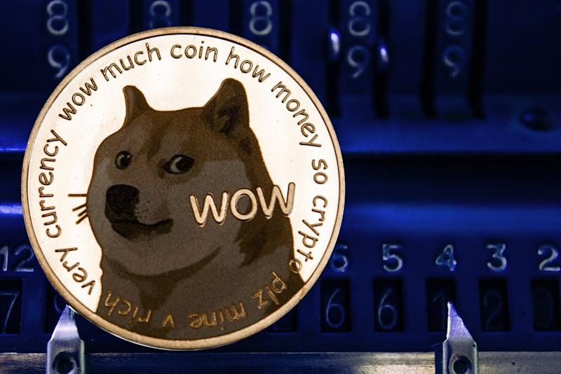 Fittingly, the Dogecoin price initiated a parabolic rally on April Fools' day.   Source: Shutterstock