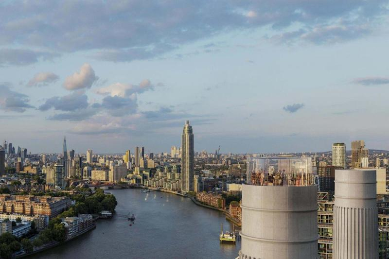 Bird's eye view: the chimney will give spectacular views over the capital