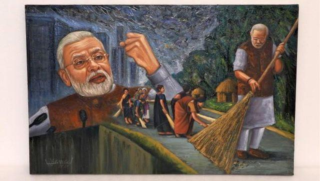 Swachh Bharat Mission, launched by Prime Minister Narendra Modi, is a country-wide campaign initiated by the Government of India in 2014 to eliminate open defecation and improve solid waste management.This was gifted to the PM by Syed Rizwan Ali from Hyderabad. It is expected to get bids starting at Rs 3 lakh. Image Courtesy: pmmementos.gov.in/