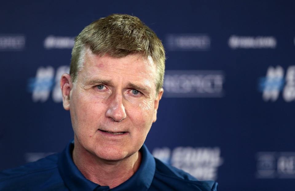 Republic of Ireland manager Stephen Kenny has called for leadership over discrimination (Trenka Attila/PA) (PA Wire)