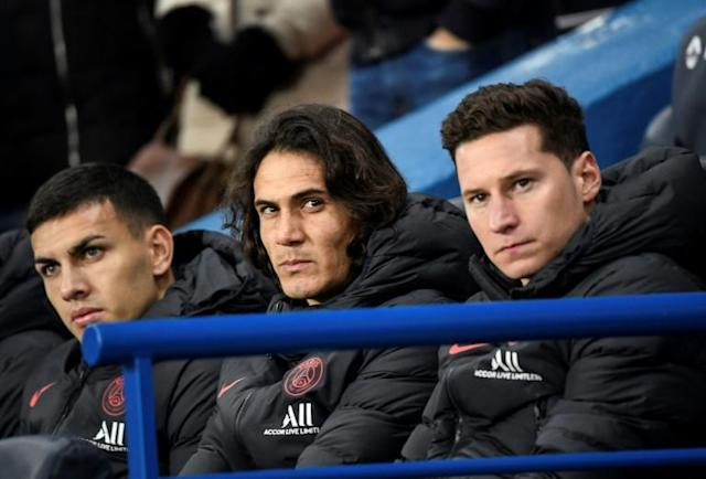 Cavani has struggled for game time at PSG this season following the arrival of Mauro Icardi (AFP Photo/Bertrand GUAY)