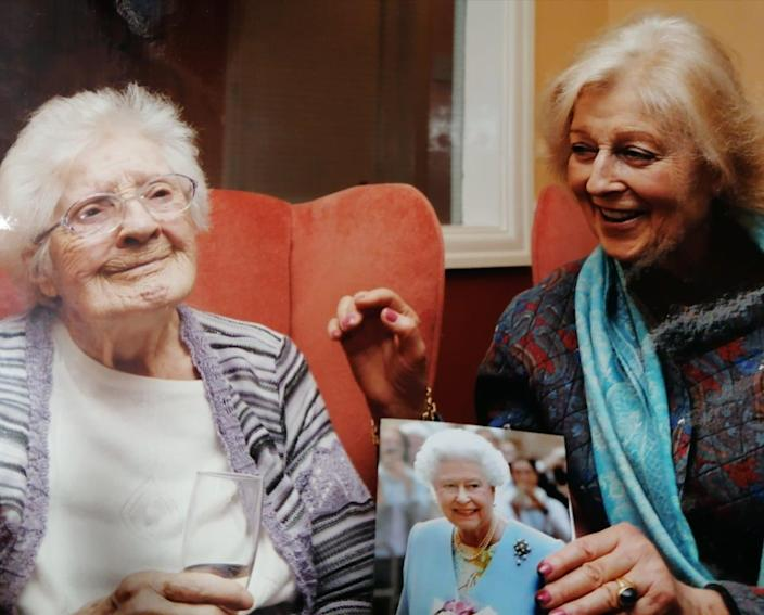 Princess Alexandra (left) and Marjorie Dawson. Dawson died last year, and had been the princess's dresser. (PA)
