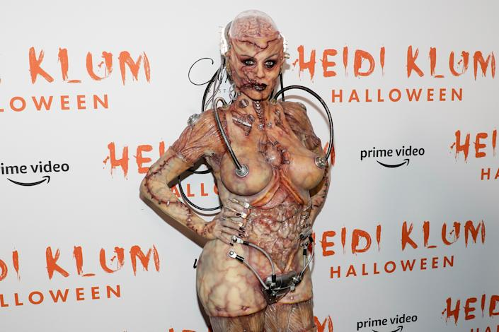 NEW YORK, NEW YORK - OCTOBER 31: Heidi Klum attends Heidi Klum's Annual Hallowe'en Party at Cathedrale on October 31, 2019 in New York City. (Photo by Taylor Hill/Getty Images)