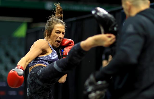 Joanna Jedrzejczyk works out at Yuengling Center on Oct. 9, 2019 in Tampa, Florida. (Photo by Mike Ehrmann/Zuffa LLC/Zuffa LLC)