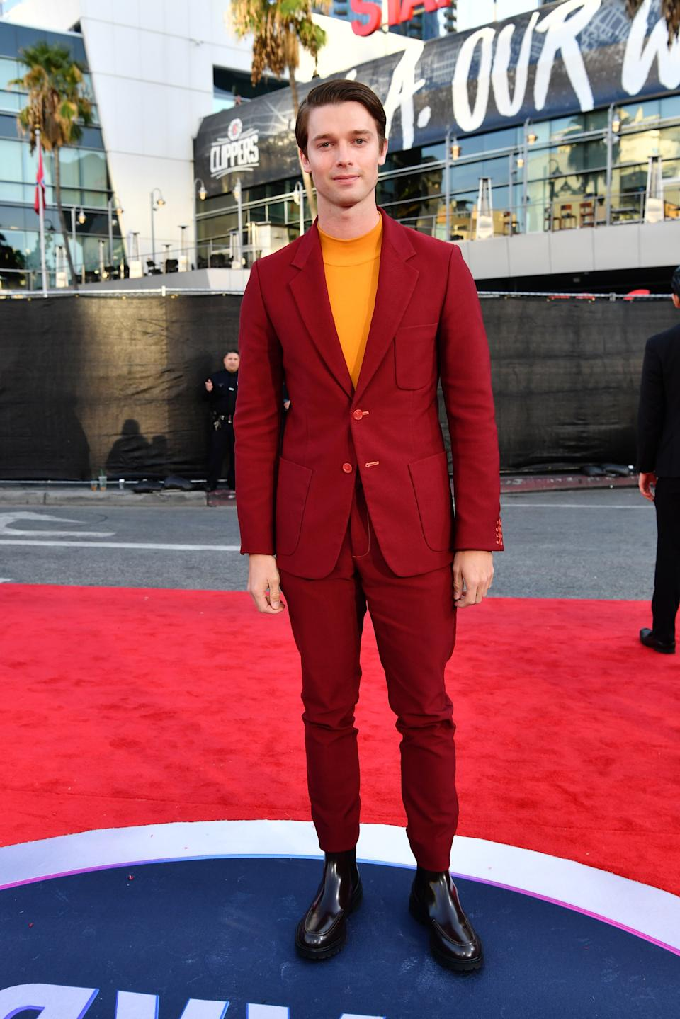 """<h1 class=""""title"""">Patrick Schwarzenegger in Sies Marjan</h1><cite class=""""credit"""">Photo: Getty Images</cite>"""