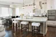 <p>White cabinets, marble counters, and reclaimed wood floors don't need a filter to pop. Like the gourmet kitchens of the '90s, these elements were borrowed from trendy restaurants and translated into the home.</p>