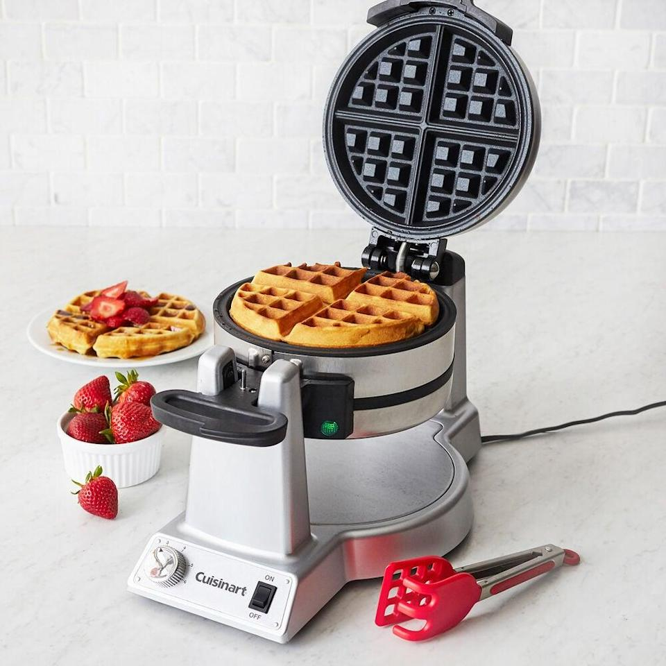 "<em>*An </em><strong><em>extra 20% off</em></strong><em> with code </em><strong><em>TART</em></strong><em> at checkout.</em><br><br><strong>Cuisinart</strong> DOUBLE BELGIAN WAFFLE MAKER, $, available at <a href=""https://go.skimresources.com/?id=30283X879131&url=https%3A%2F%2Fwww.surlatable.com%2Fcuisinart-double-belgian-waffle-maker%2FPRO-2814937.html"" rel=""nofollow noopener"" target=""_blank"" data-ylk=""slk:Sur La Table"" class=""link rapid-noclick-resp"">Sur La Table</a>"