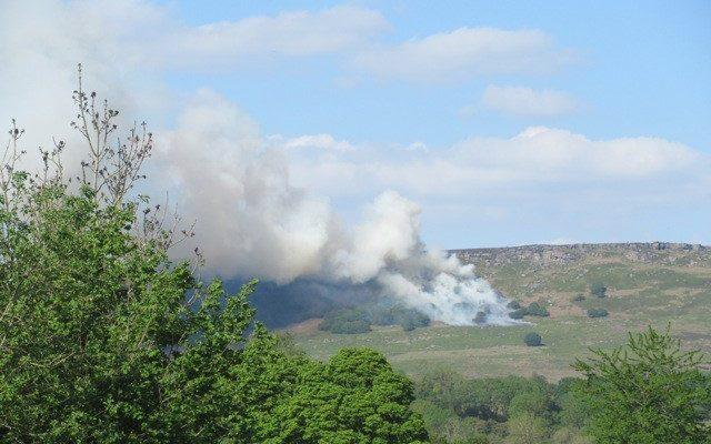 Fires in the Peak District