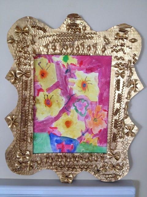 "<p>Dry pasta is a craft staple for toddlers, and as it turns out, adds great texture on top of a DIY picture frame. Have your toddler decorate the frame with pasta pieces, then spray paint it with gold for an elegant finish.</p><p><em><a href=""https://stayingclosetohome.com/diy-earth-day-craft-or-homemade-mothers-day-gift-noodle-frame/"" rel=""nofollow noopener"" target=""_blank"" data-ylk=""slk:Get the tutorial."" class=""link rapid-noclick-resp"">Get the tutorial.</a></em></p>"