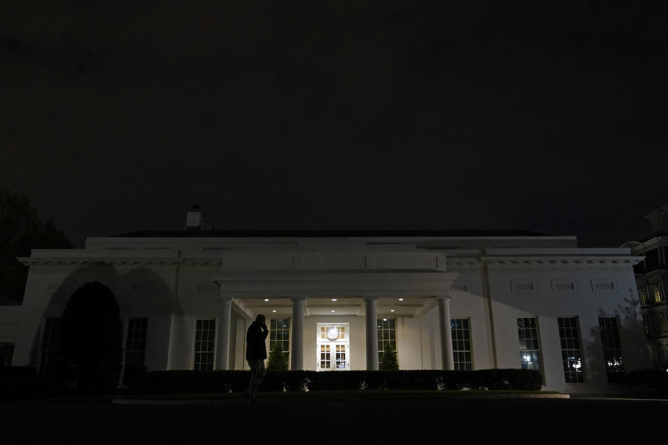 A view of the West Wing of the White House in Washington, Monday, Nov. 23, 2020. (AP Photo/Susan Walsh)