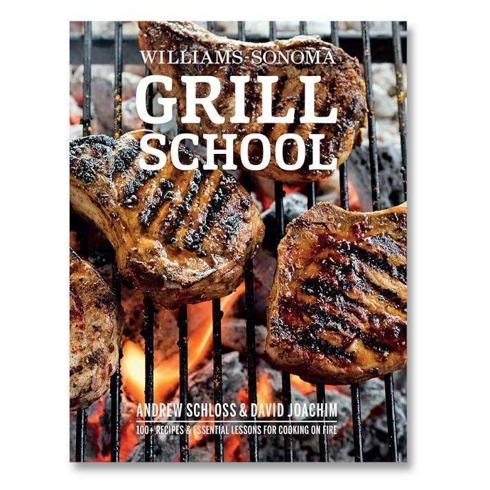 """<p>Williams Sonoma</p><p><strong>$29.95</strong></p><p><a href=""""https://go.redirectingat.com?id=74968X1596630&url=https%3A%2F%2Fwww.williams-sonoma.com%2Fproducts%2Fwilliams-sonoma-grill-school-cookbook%2F&sref=https%3A%2F%2Fwww.delish.com%2Ffood-news%2Fg32586474%2Fbest-grilling-cookbooks%2F"""" rel=""""nofollow noopener"""" target=""""_blank"""" data-ylk=""""slk:BUY NOW"""" class=""""link rapid-noclick-resp"""">BUY NOW</a></p><p>It's time to go back to school. Williams-Sonoma brands this book as the only grilling cookbook you'll ever need, and that's a good enough endorsement for us. This book offers up more than 100 recipes—plus everything you need to be comfortable (wo)manning the grill.</p>"""