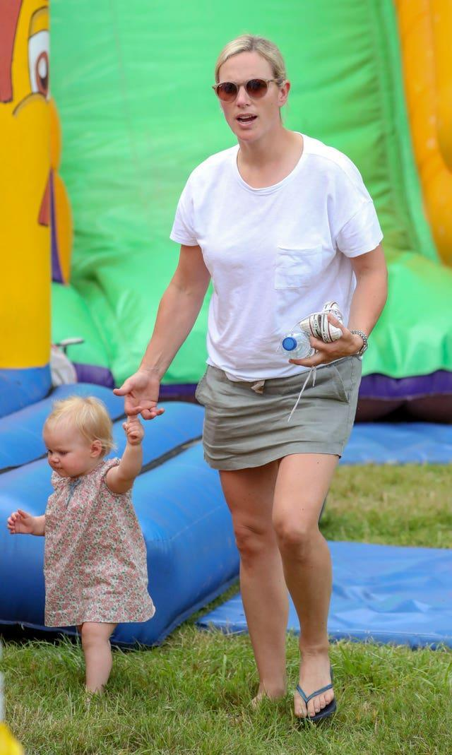 Lena and Zara Tindall