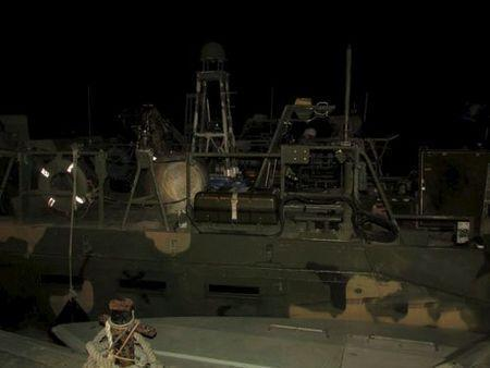 An undated picture released by Iran's Revolutionary Guards website shows the U.S. boat detained by Iran, in an unknown place, Iran. REUTERS/sepahnews.ir/TIMA/Handout via Reuters