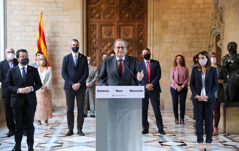 Barred from office, outgoing Catalan leader sees regional elections in coming months