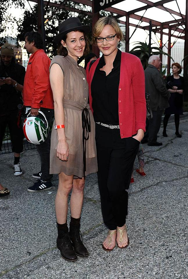 """Sucker Punch"" actresses Jena Malone and Abbie Cornish made their way outside before the sun went down. Stefanie Keenan/<a href=""http://www.wireimage.com"" target=""new"">WireImage.com</a> - April 14, 2011"