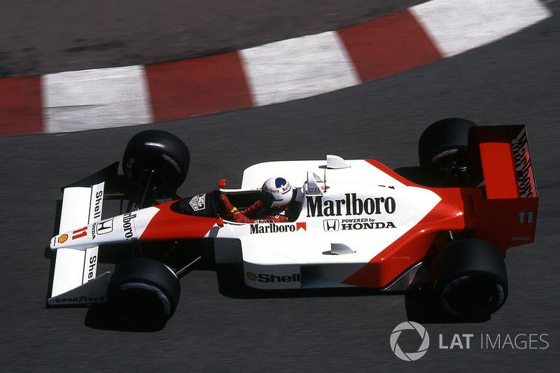 "Alain Prost - McLaren MP4 / 4-Honda - GP de Mónaco 1987<span class=""copyright"">Sutton Motorsport Images</span>"
