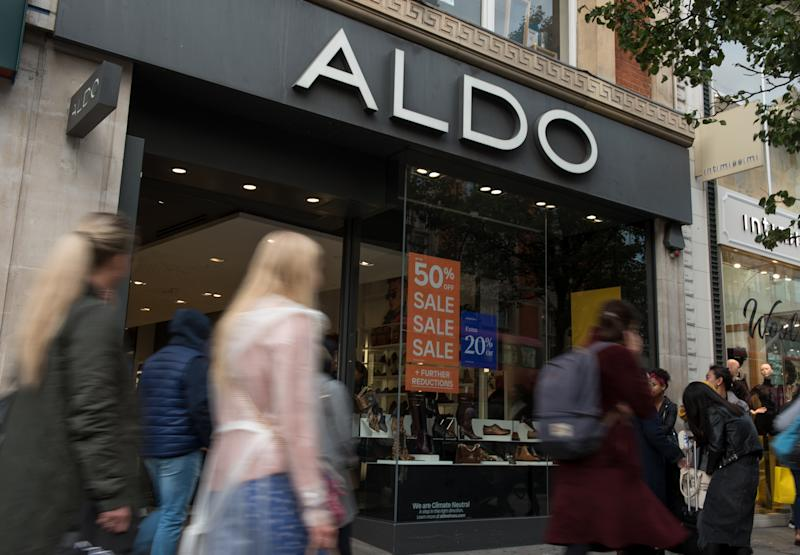 LONDON, ENGLAND - OCTOBER 16: A general view of ALDO shoe store on Oxford Street on October 16, 2019 in London, England. (Photo by John Keeble/Getty Images)