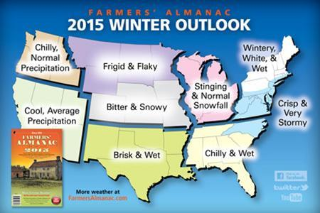 Farmers' Almanac winter forecase