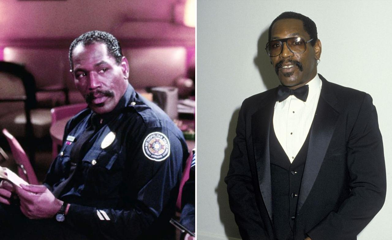 """<p>Charles Aaron """"Bubba"""" Smith turned guest appearances on primetime shows such as <i>Wonder Woman</i> and <i>Charlie's Angels</i> into a starring role in <i>Police Academy</i>, appearing in all but one of the numerous sequels as softly spoken police officer Moses Hightower. The 6ft 7in NFL star used his height to great advantage in this and many follow-on roles but sadly <a rel=""""nofollow"""" href=""""http://www.digitalspy.com/showbiz/news/a333264/police-academy-star-bubba-smith-dies-aged-66"""">died in 2011</a> aged 66, from <a rel=""""nofollow"""" href=""""http://www.digitalspy.com/showbiz/news/a348857/police-academy-bubba-smith-died-from-drug-intoxication-says-autopsy"""">drug intoxication</a>. </p>"""