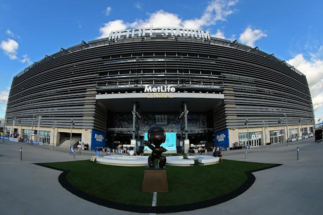 MetLife Stadium in East Rutherford, N.J., will likely host the 2026 World Cup final after the U.S., Canada and Mexico won hosting rights. But which other cities will be selected? (Getty)