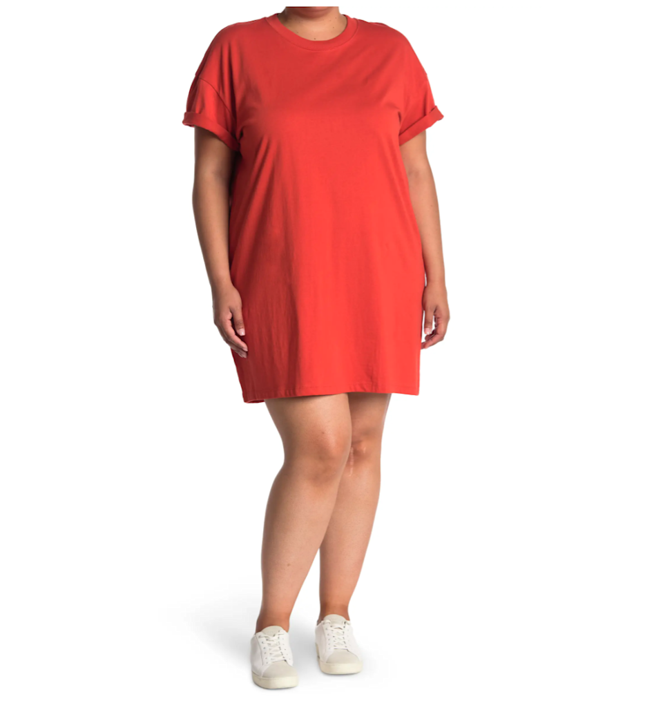 """<h2>Madewell Tina T-Shirt Dress</h2><br>We are total fans of the <a href=""""https://www.refinery29.com/en-us/best-t-shirt-dresses"""" rel=""""nofollow noopener"""" target=""""_blank"""" data-ylk=""""slk:t-shirt dress"""" class=""""link rapid-noclick-resp"""">t-shirt dress</a>: shaped like a shirt, cut like a dress, and made with extreme wearability in mind. Reviewers say Madewell's take on this classic style strikes the right balance of quality and affordability.<br><br><strong>The Hype:</strong> 4.3 out of 5 stars; 116 reviews on <a href=""""https://www.nordstromrack.com/s/madewell-tina-t-shirt-dress-regular-plus-size/6058142"""" rel=""""nofollow noopener"""" target=""""_blank"""" data-ylk=""""slk:NordstromRack.com"""" class=""""link rapid-noclick-resp"""">NordstromRack.com</a><br><br><strong>What They're Saying:</strong> """"What a perfect tee shirt dress. Loved the little cuffed detail on the sleeves, great flow and not too short. I was able to wear biker short length spanx underneath and you couldn't even tell! I loved this fabric, not heavy and great summer transition piece!"""" — ang., NordstromRack.com reviewer<br><br><br><br><strong>Madewell</strong> Tina T-Shirt Dress, $, available at <a href=""""https://go.skimresources.com/?id=30283X879131&url=https%3A%2F%2Fwww.nordstromrack.com%2Fs%2Fmadewell-tina-t-shirt-dress-regular-plus-size%2F6058142"""" rel=""""nofollow noopener"""" target=""""_blank"""" data-ylk=""""slk:Madewell"""" class=""""link rapid-noclick-resp"""">Madewell</a>"""