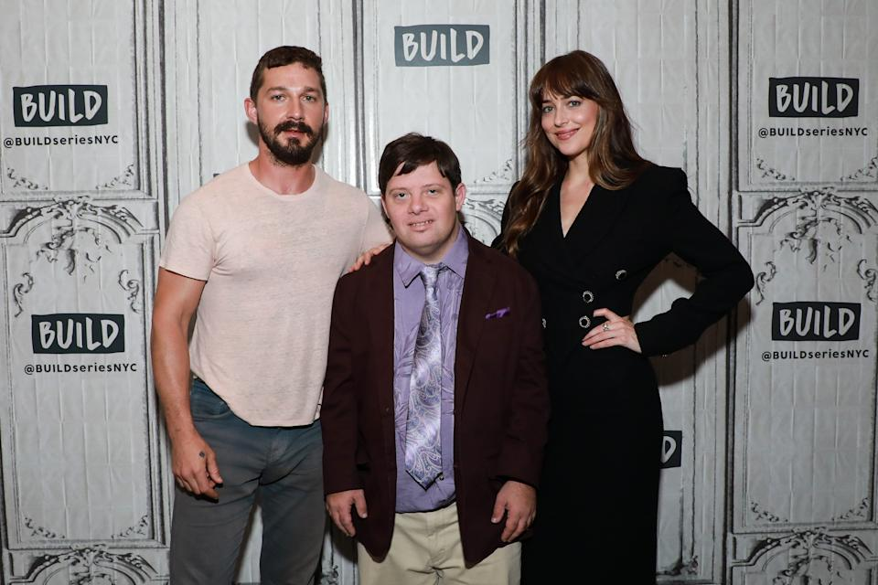 "Dakota Johnson opens up about Shia LaBeouf's 2017 arrest while the co-stars were filming ""The Peanut Butter Falcon."" (Photo: Getty Images)"