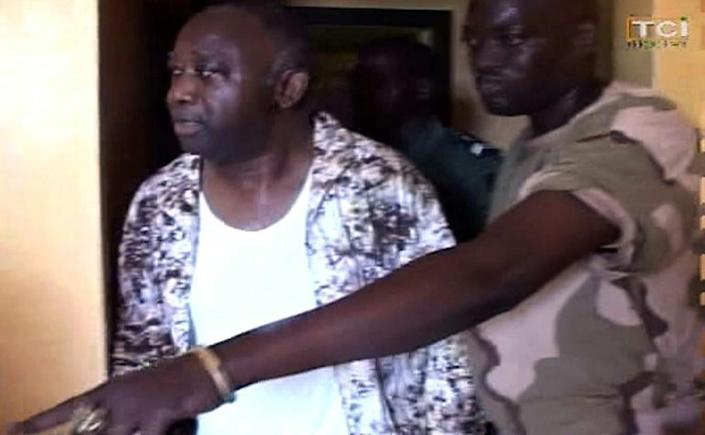 Humiliation: Gbagbo is arrested on April 11 2011 after a months-long civil conflict