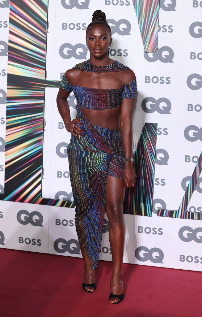 <p>The athlete wowed in draped Mugler for the awards ceremony. </p>