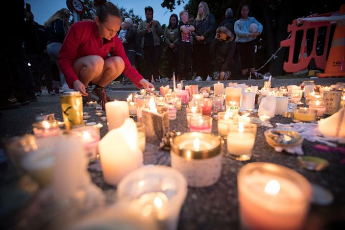 Candles are placed to commemorate victims of Friday's shooting, outside the Al Noor mosque in Christchurch, New Zealand, Monday, March 18, 2019. (Photo: Vincent Thian/AP)