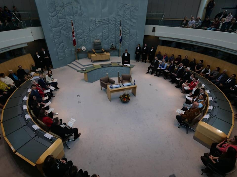 A positive case of COVID-19 was detected at the Legislative Assembly Friday, causing day five of MLA Steve Norn's public inquiry to be cut short. The hearing will resume on Friday Oct. 15, 2021. (Mario De Ciccio/Radio-Canada - image credit)