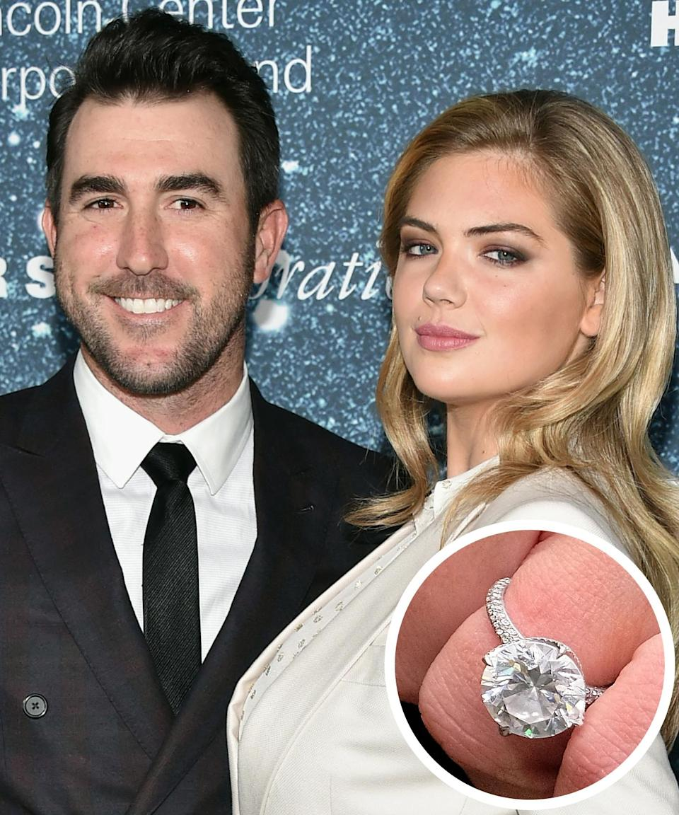 <p>The Detroit Tigers pitcher proposed to the model with a jaw-dropping 8 carat diamond ring after three years of dating in 2016. </p>