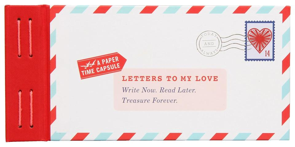 """<p>""""Write now. Read later. Treasure forever."""" This sweet keepsake <span>book</span> ($9) comes with 12 blank fold-and-mail letters for you to fill and for them to open whenever the distance gets too tough, especially if you're in a relationship dealing with differing time zones.</p>"""