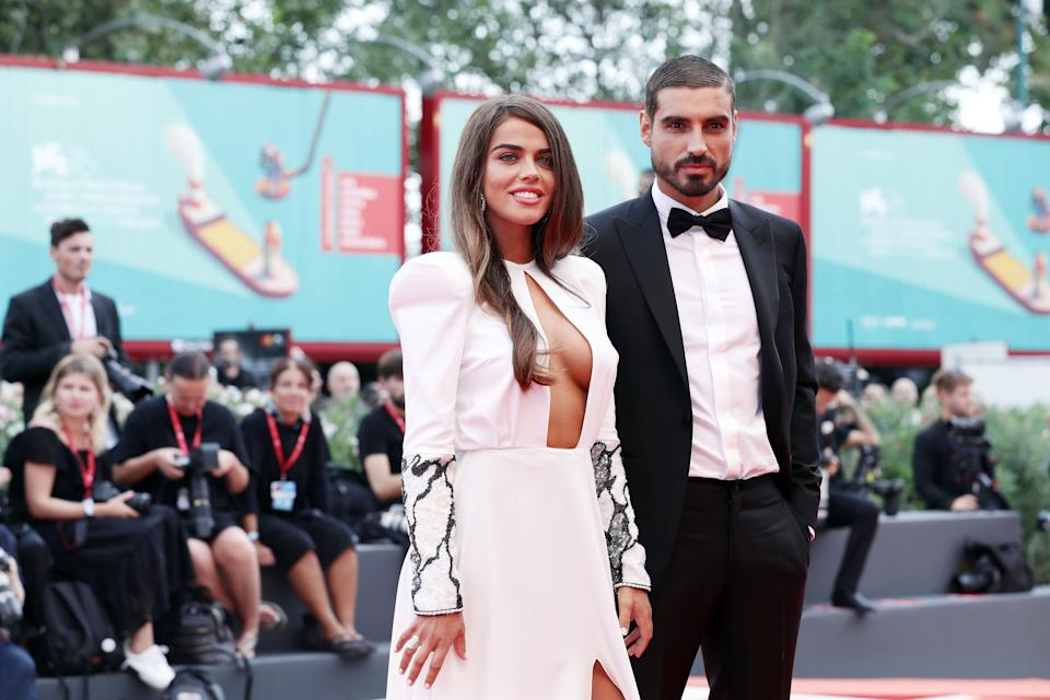 VENICE, ITALY - SEPTEMBER 07: Violeta Mangrinan and Fabio Colloricchio walk the red carpet ahead of the closing ceremony of the 76th Venice Film Festival at Sala Grande on September 07, 2019 in Venice, Italy. (Photo by Vittorio Zunino Celotto/Getty Images)