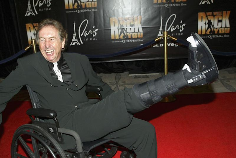 LAS VEGAS - SEPT 8: Eric Idle of Monty Python fame arrives at the 'We Will Rock You' North American premiere at Paris Las Vegas Le Theatre de Arts in Las Vegas, Nevada September 8, 2004 (Photo by Chris Farina/Getty Images)