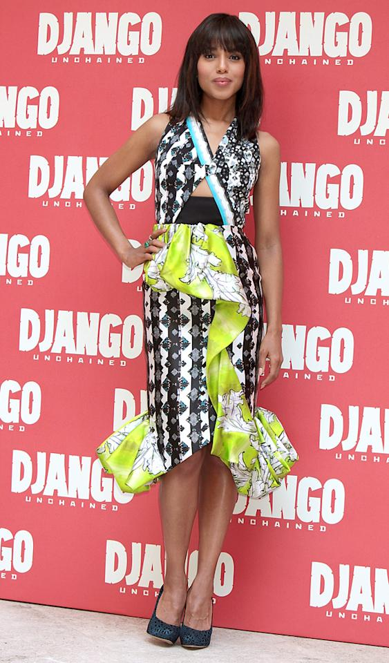 ROME, ITALY - JANUARY 04: Actress Kerry Washington attends the 'Django Unchained' photocall at the Hassler Hotel on January 4, 2013 in Rome, Italy.  (Photo by Elisabetta A. Villa/Getty Images)