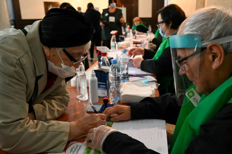 The vote took place with special measures in place to prevent the spread of the coronavirus