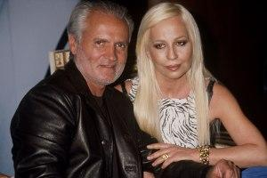From left: Gianni and Donatella Versace