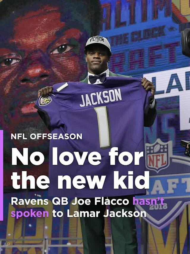 Baltimore Ravens starting QB Joe Flacco hasn't reached out to rookie QB Lamar Jackson yet, and that's OK.