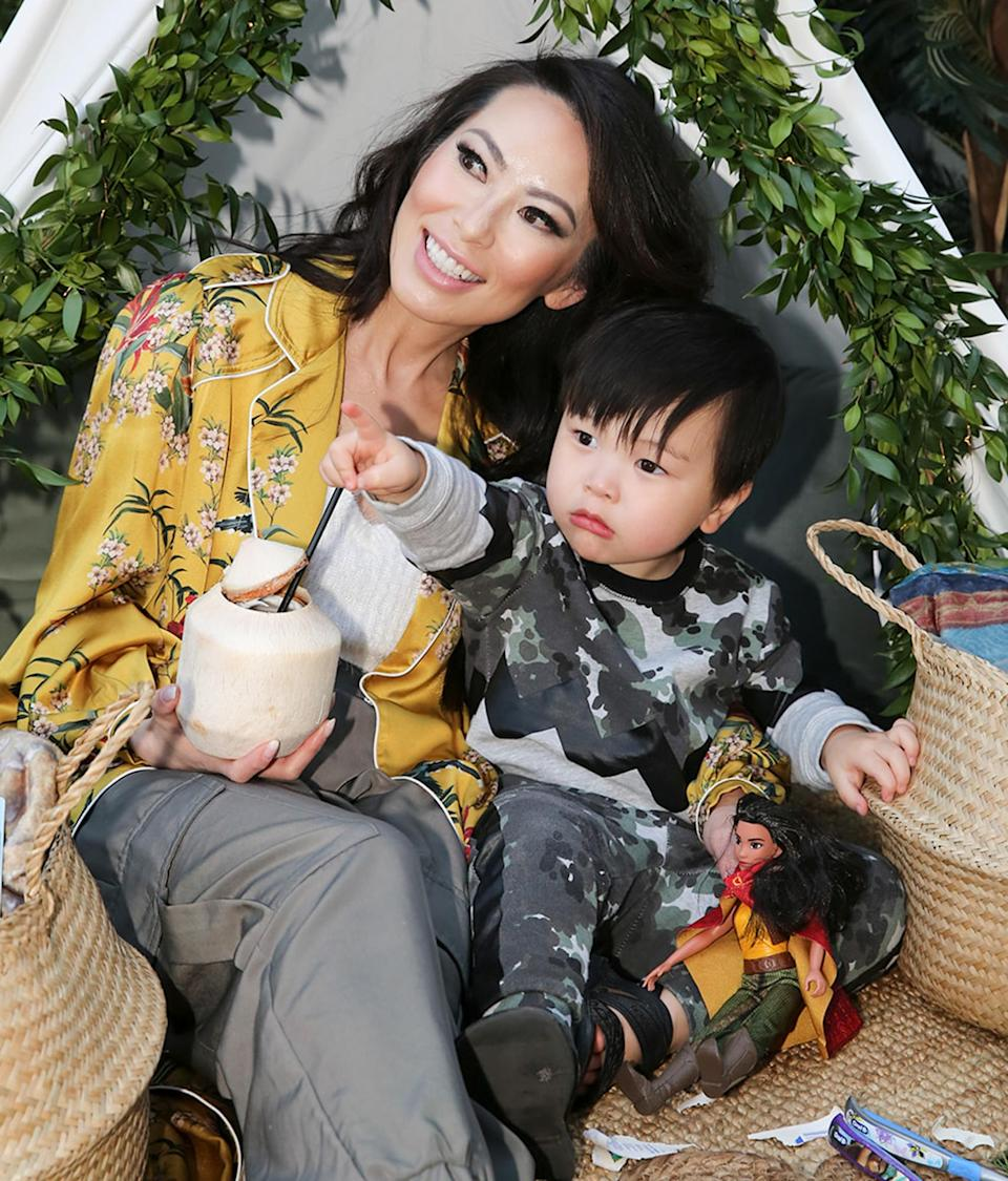 <p><em>Bling Empire</em>'s Christine Chiu has an at-home <em>Raya and the Last Dragon </em>viewing party with son Baby G.</p>