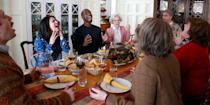 "<p>The Saturday Night Live cast showed us how to get through heated family dinner conversations with a hilarious skit called ""A Thanksgiving Miracle."" Adele's song, ""Hello,"" — released in October 2015 — was the only thing keeping this clan from throwing turkey at each other.</p>"