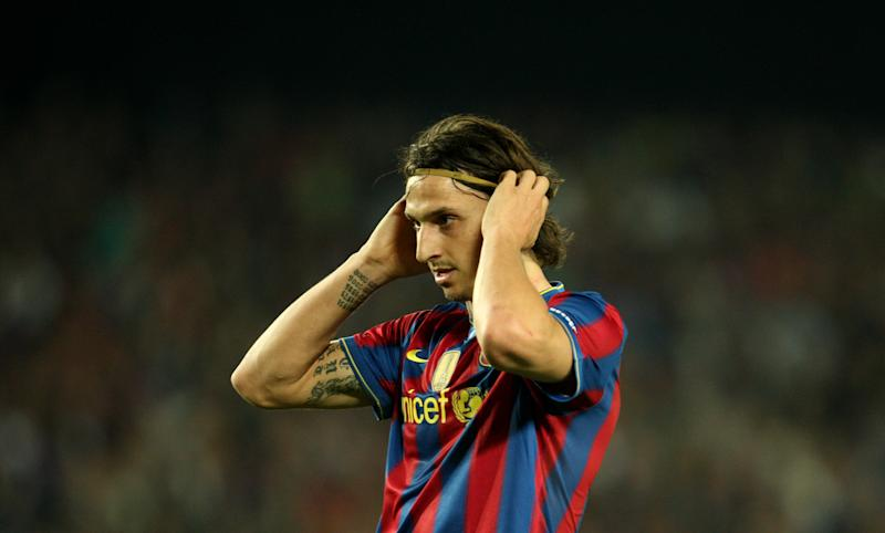 Zlatan Ibrahimovic had a rough go at Barcelona. (Photo by Stephen Pond - PA Images via Getty Images)